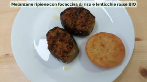 VerdeBios_Melanzane_ ripiene con focaccina di riso e lenticchie rosse Bio-01