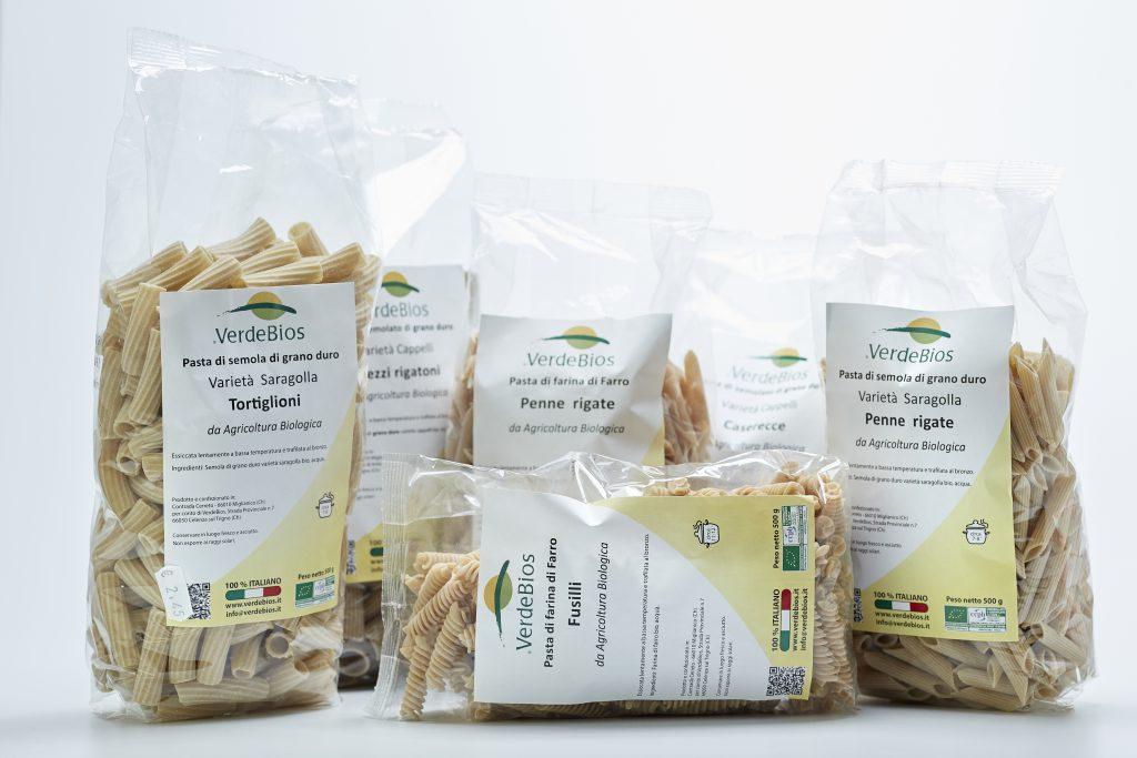 VerdeBios produce e vende paste di grani antichi biologici di produzione propria