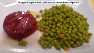 burger-di-rapa-e-lenticchie-rosse-bioveg-con-contorno-di-piselli-01